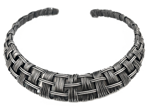 Silver Plated Brass Weaved Choker