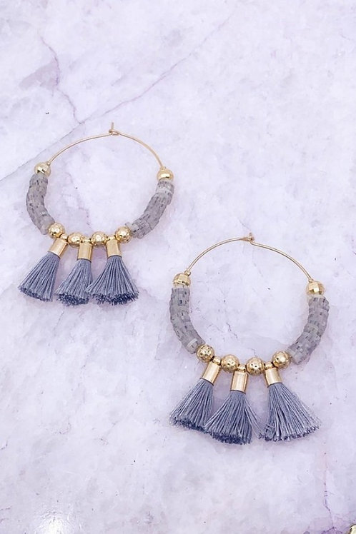 3 Tassel Hoop Earrings