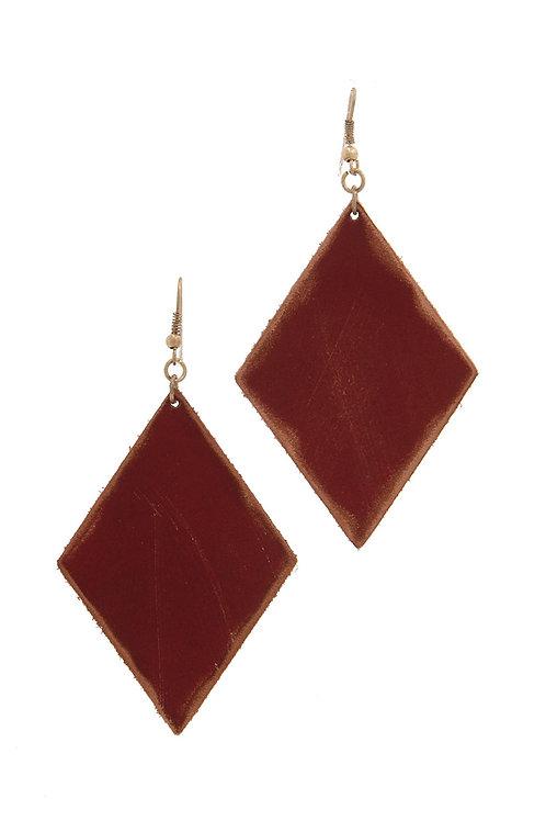 Rhombus Shape Drop Earrings