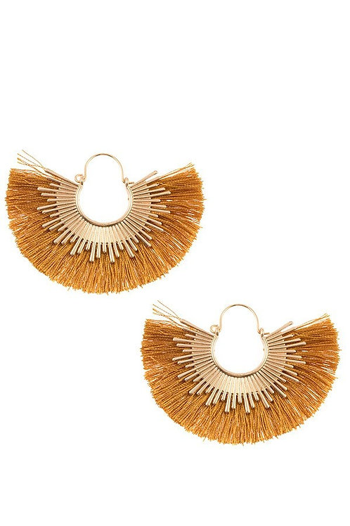 Fringe Fan Out Metal Earrings