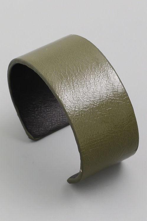 "Faux Leather ""In the Spotlight"" Cuff Bracelet"