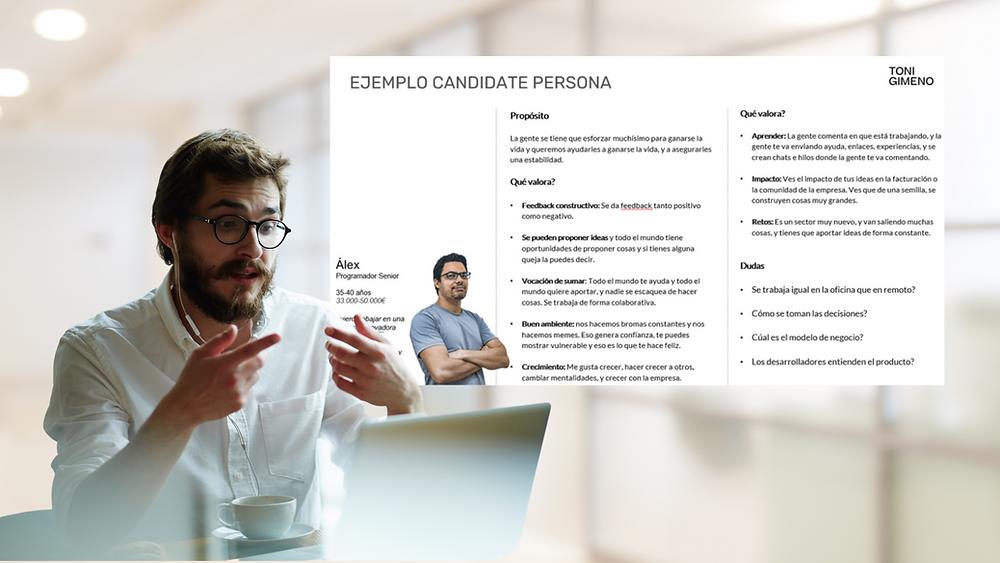 Candidate Persona - Toni Gimeno - Metodologia Inbound Recruiting
