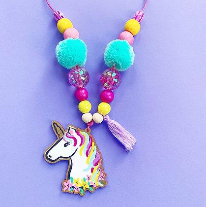 Unicorn Head Necklace
