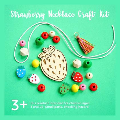 Strawberry Necklace Craft Kit