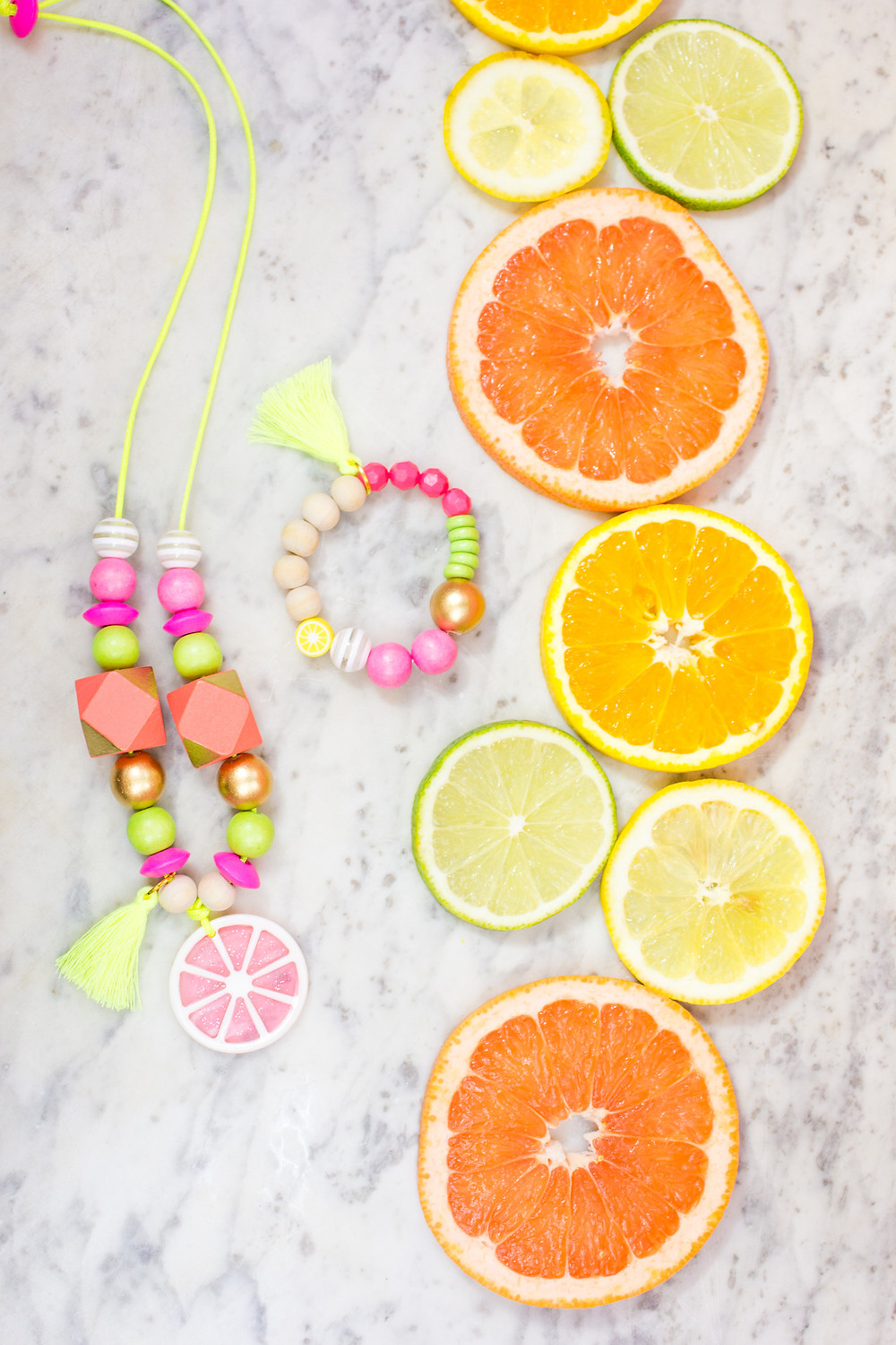 Citrus Necklace and Bracelet
