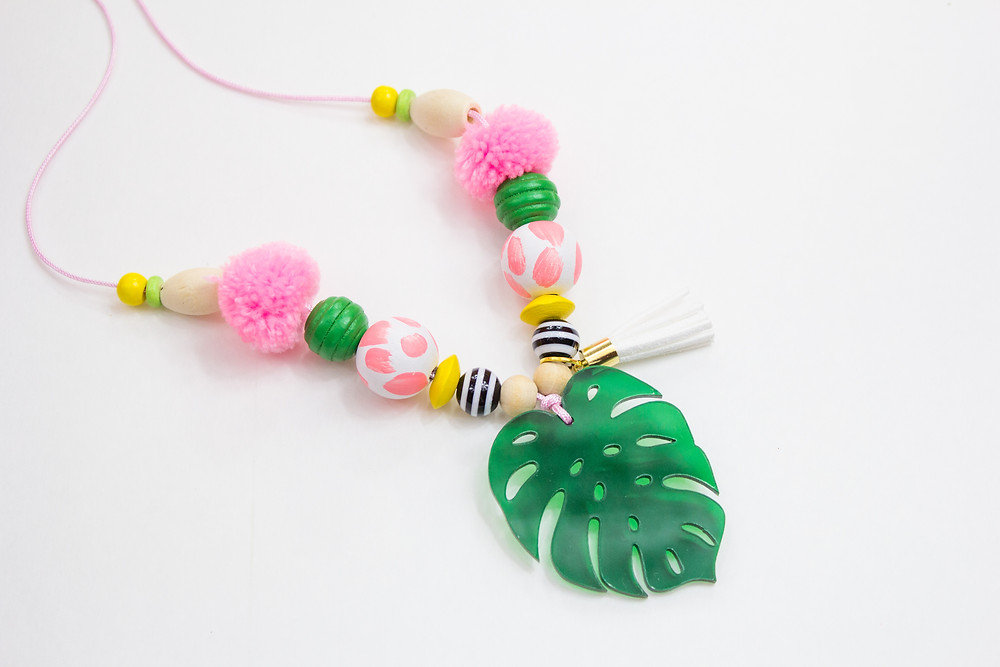Monsterra Leaf Necklace for kids