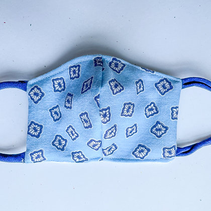 Little Kid Mask - Blue Patterned