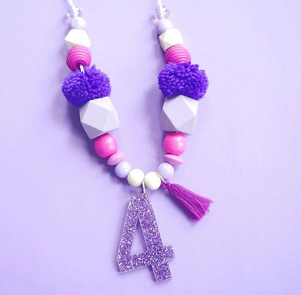 Purple Birthday Necklace Wholesale