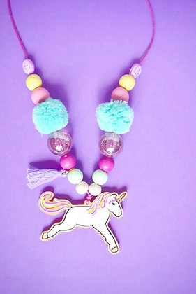 Leaping Unicorn Necklace
