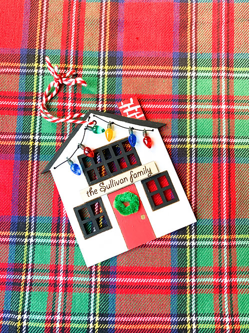 Holiday House Personalized Ornament