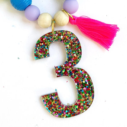 Rainbow Confetti Number a la carte