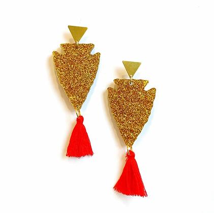 KC Arrowhead Glitter Earrings