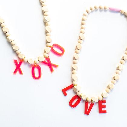 Valentines Day Phrase Necklace