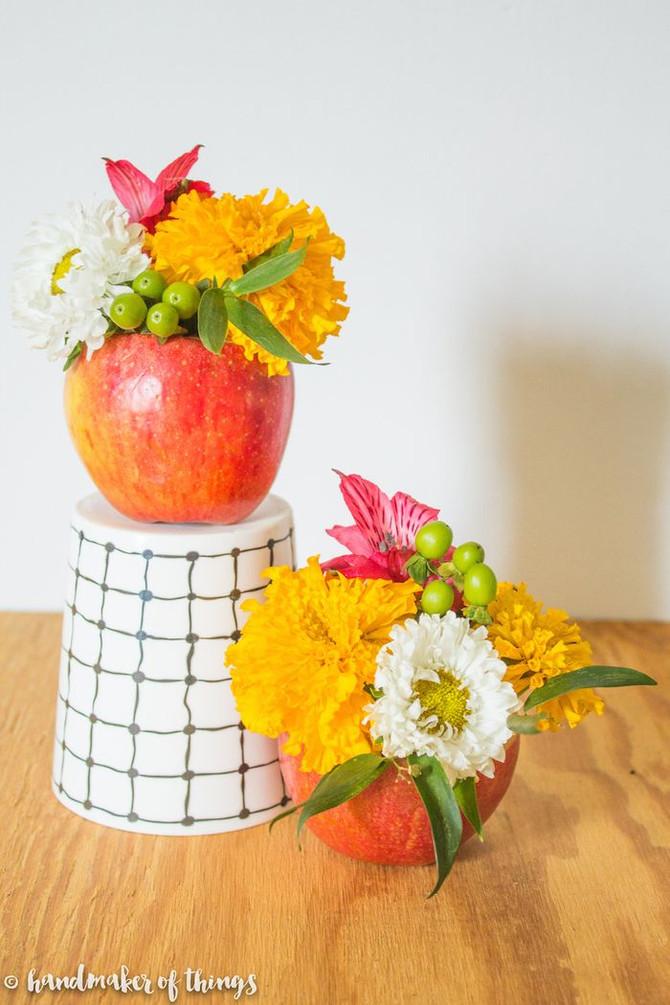 Back to School Apple Vase DIY
