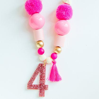 Pink Birthday Necklace