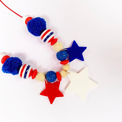 Kids Stars and Stripes Necklace