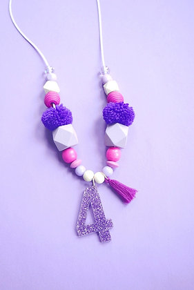 Purple Birthday Necklace