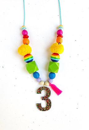 Rainbow Birthday Necklace Wholesale