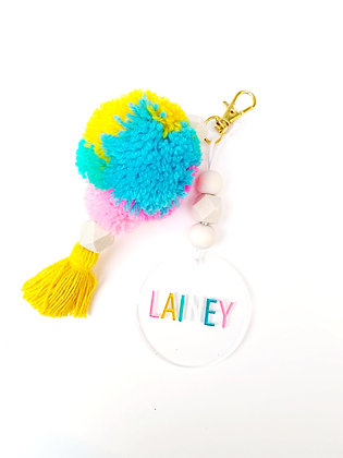 Tropical Punch Personalized Keychain/Bag Charm