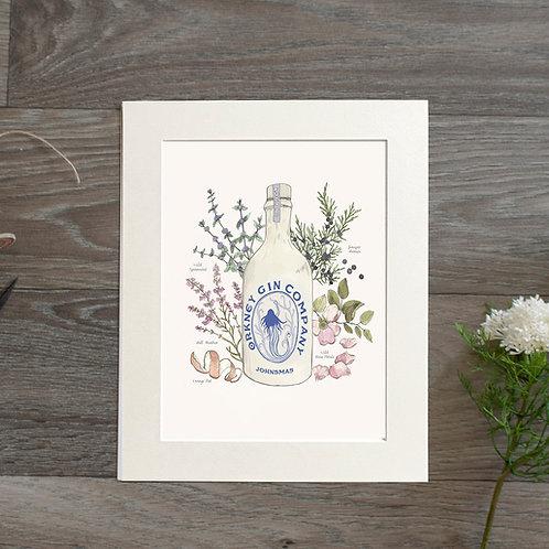 Johnsmas Botanical Gin Print