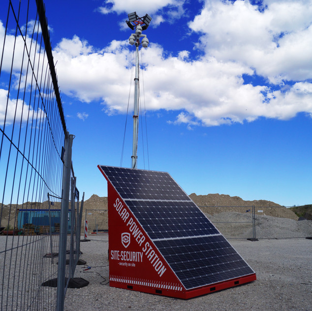 SITE-SECURITY SOLAR POWER STATION on site