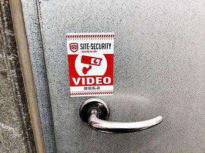 SITE-SECURITY skilt ved parkeringshus