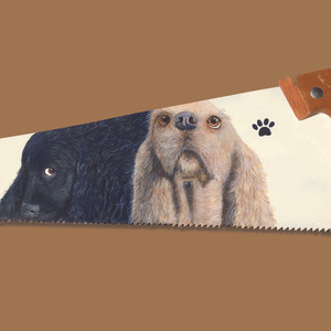 Cocker Spaniels Saw Painting