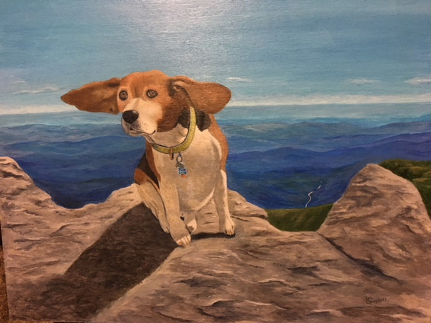 Custom dog portrait painting