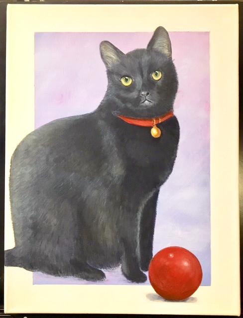 Custom cat portrait painting
