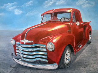 Classic truck painting