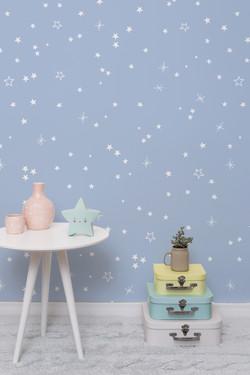 Estrelas azul escuro