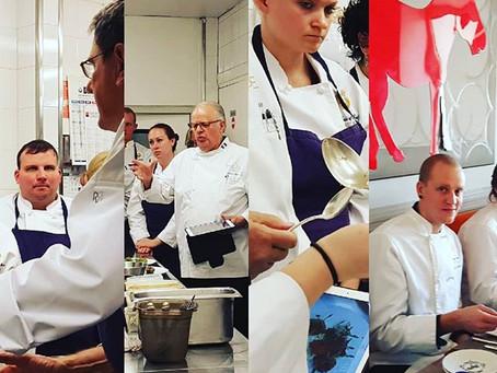 Les cours dans les cuisines du Restaurant L'Ane Rouge sur le Port de Nice