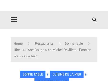 Jacques Gantié, le célèbre critique gastronomique de la Côte d'Azur était à L'Ane Rouge