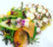 Salade de Poulpe au Quinoa, Légumes en s