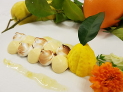 Dessert au citron de Menton Restaurant Ane Rouge Nice