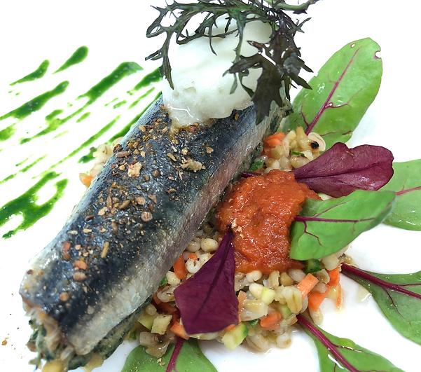 Salade de Sardines Farcies au blé vert,
