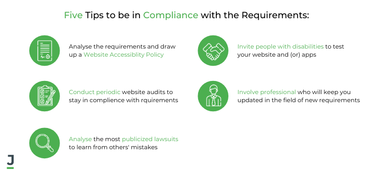 Five Tips to be in Compliance with the Requirements