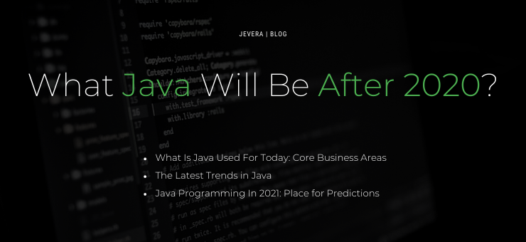 What Java Will Be After 2020?