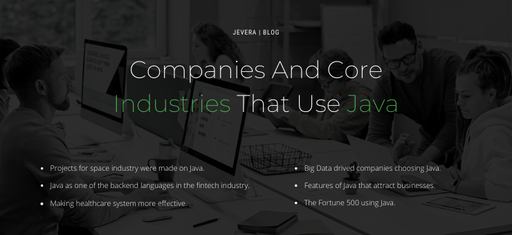 Companies and Industries that use Java
