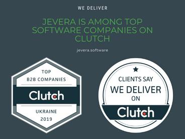 JEVERA growth among Clutch best software development companies