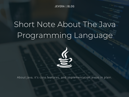 Short Note About The Java Programming Language