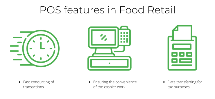 POS features in Food Retail