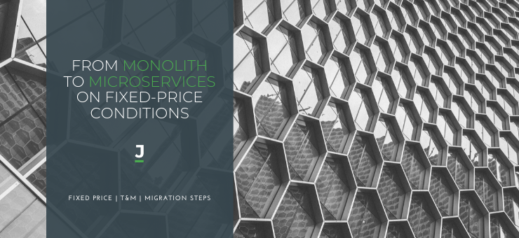 Migration from Monolithic Software Architecture to Microservices on Fixed Prise