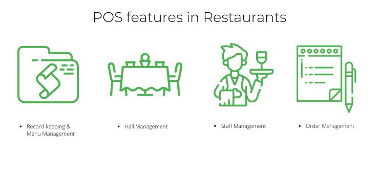 POS features in Restaurants