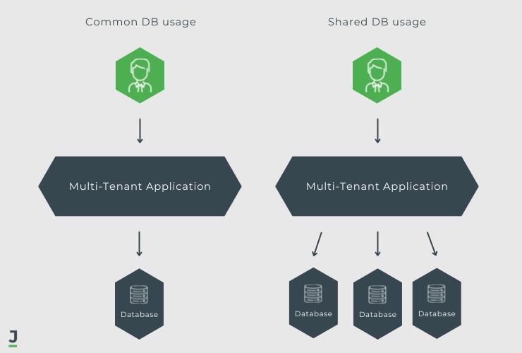 Multi-tenant database usage