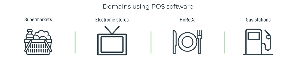 Domains using POS software