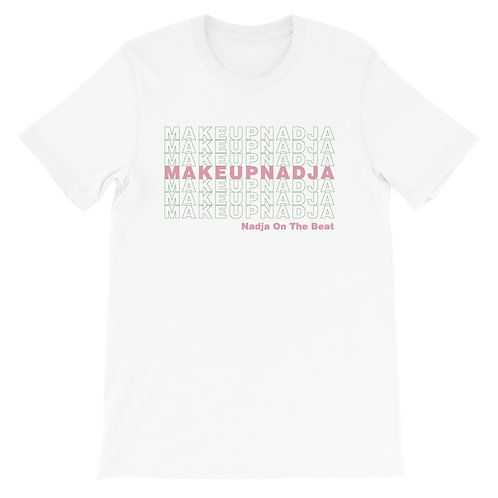 Short-Sleeve Unisex Pink and Green T-Shirt