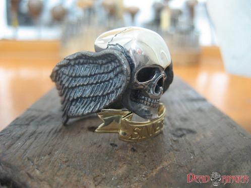 Original Sinner Skull Ring 10k Gold Skull Jewelry World Famous