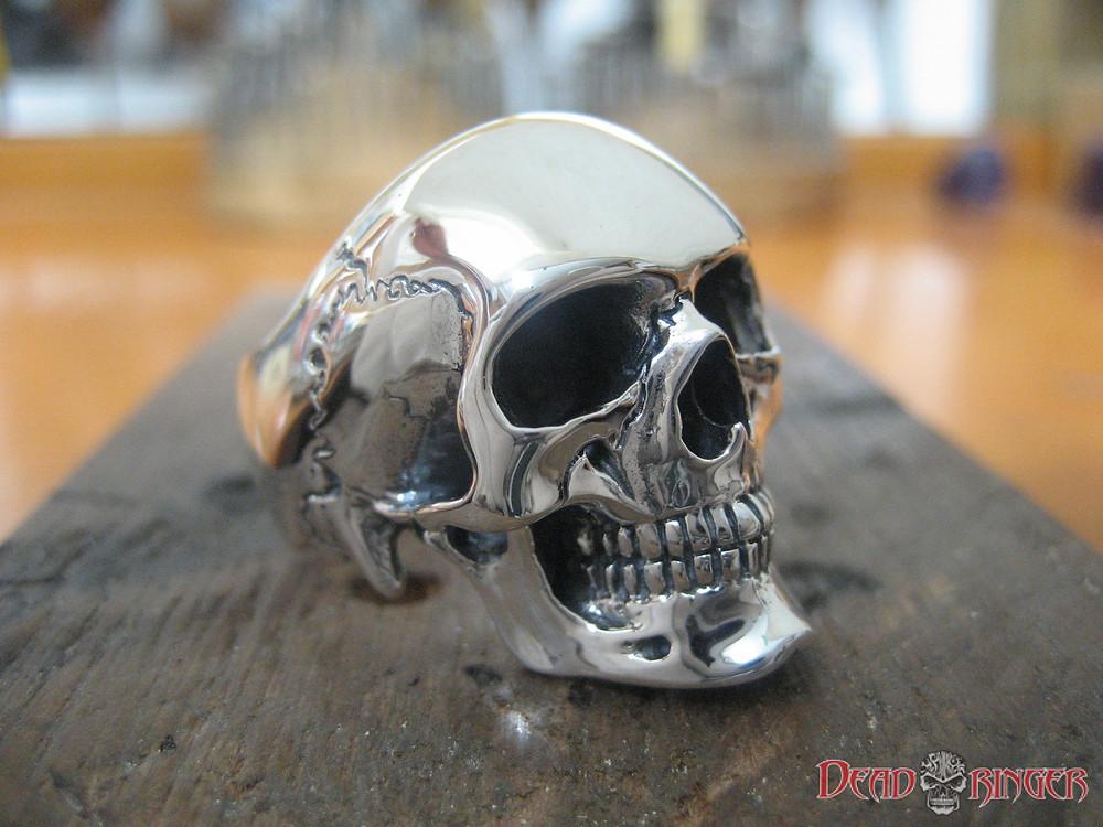 Deadringer Solid Silver Skull Ring for Men