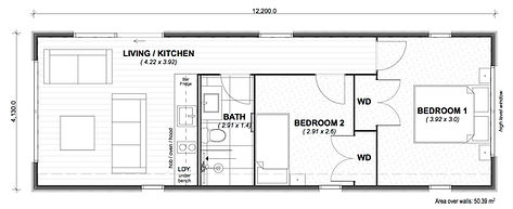 Aspect 4 - 50m2 floor plan